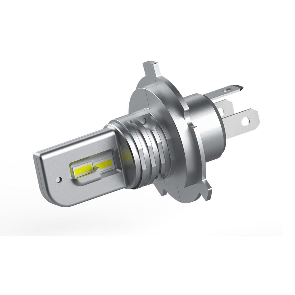 SANYOU H4 LEDヘッドライト Hi/Lo切替 車/バイク用 ファンレス  DC12V/24V兼用(ハイブリッド車・EV車対応) 6500K ホワイト 一体型 LEDバルブ
