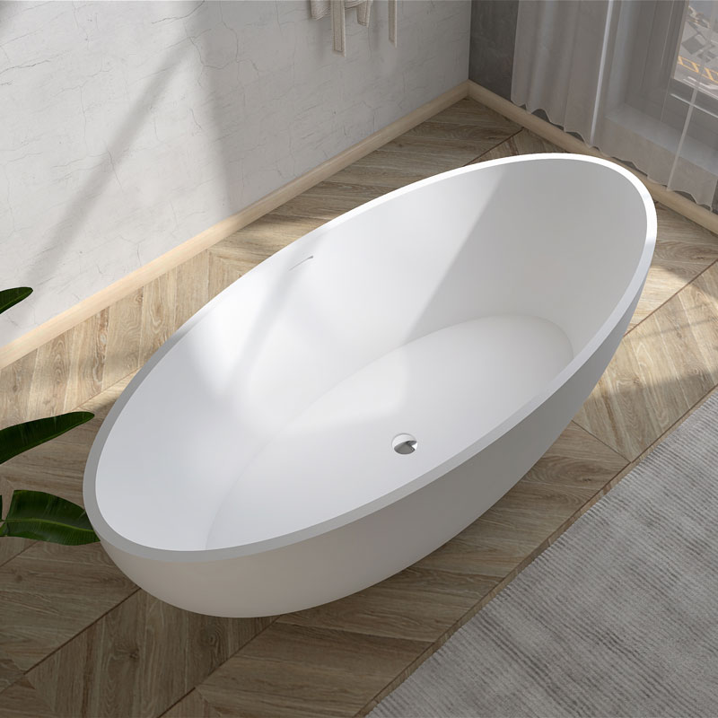 Solid surface stone resin freestanding baths