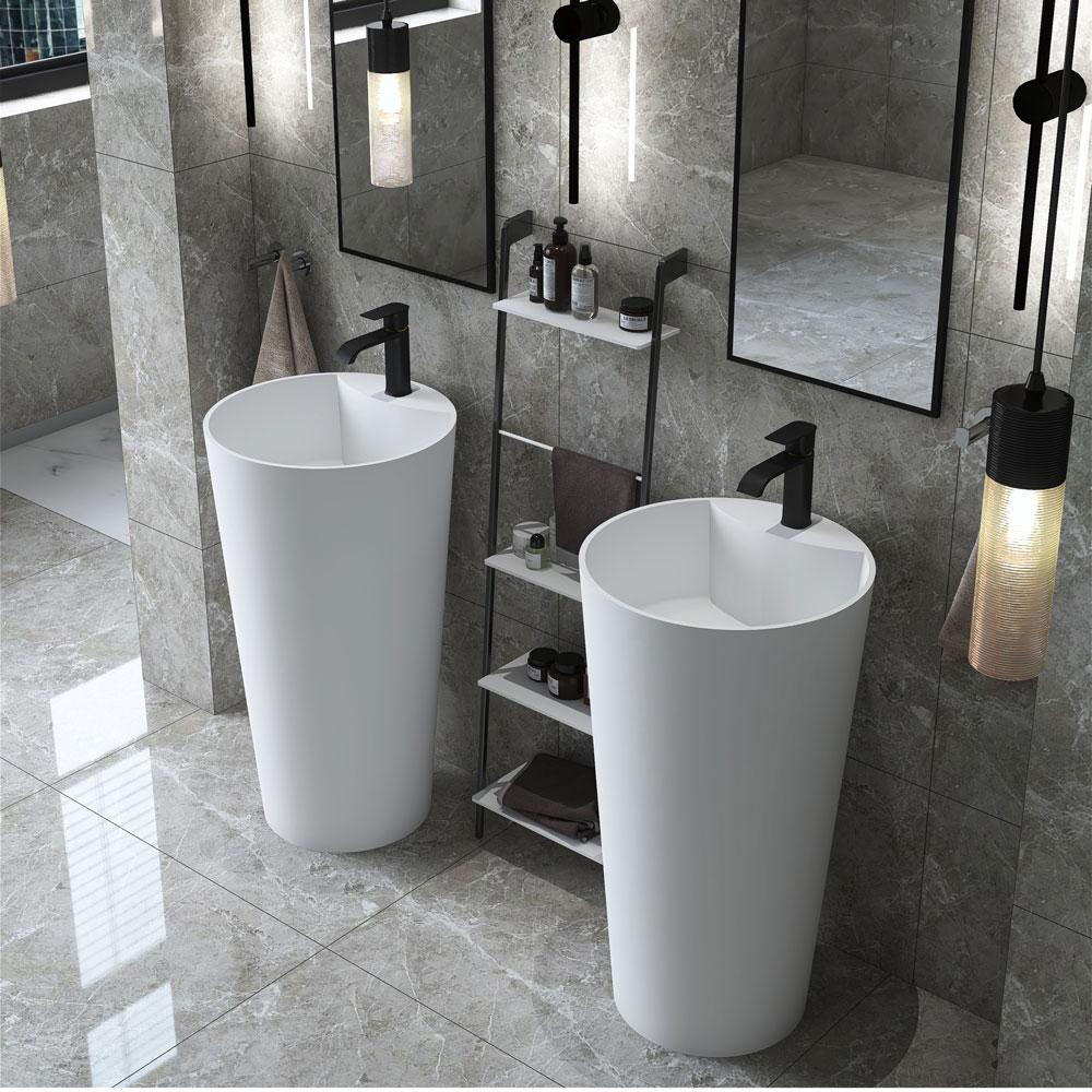 Italian style white freestanding sink