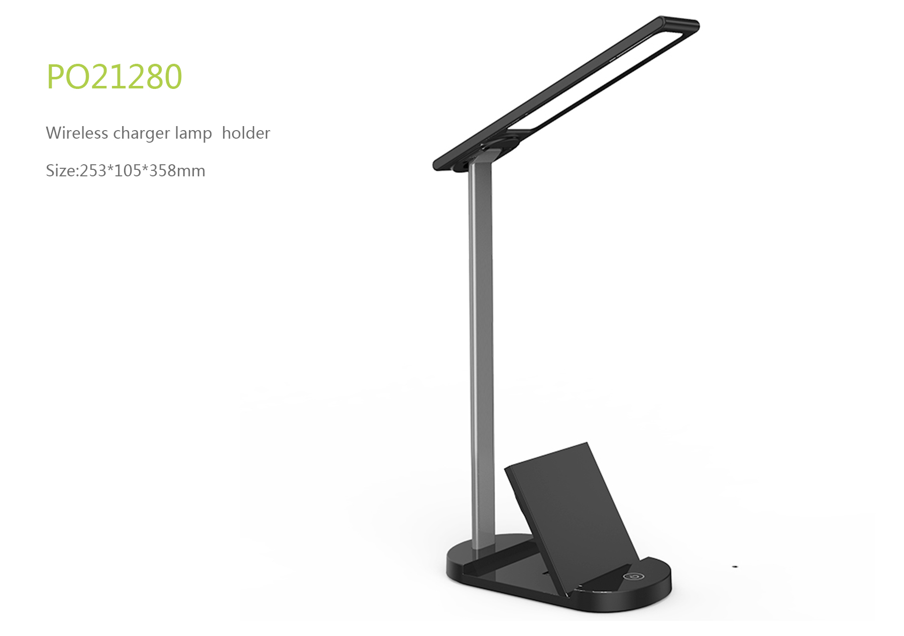 Wireless charger lamp holder