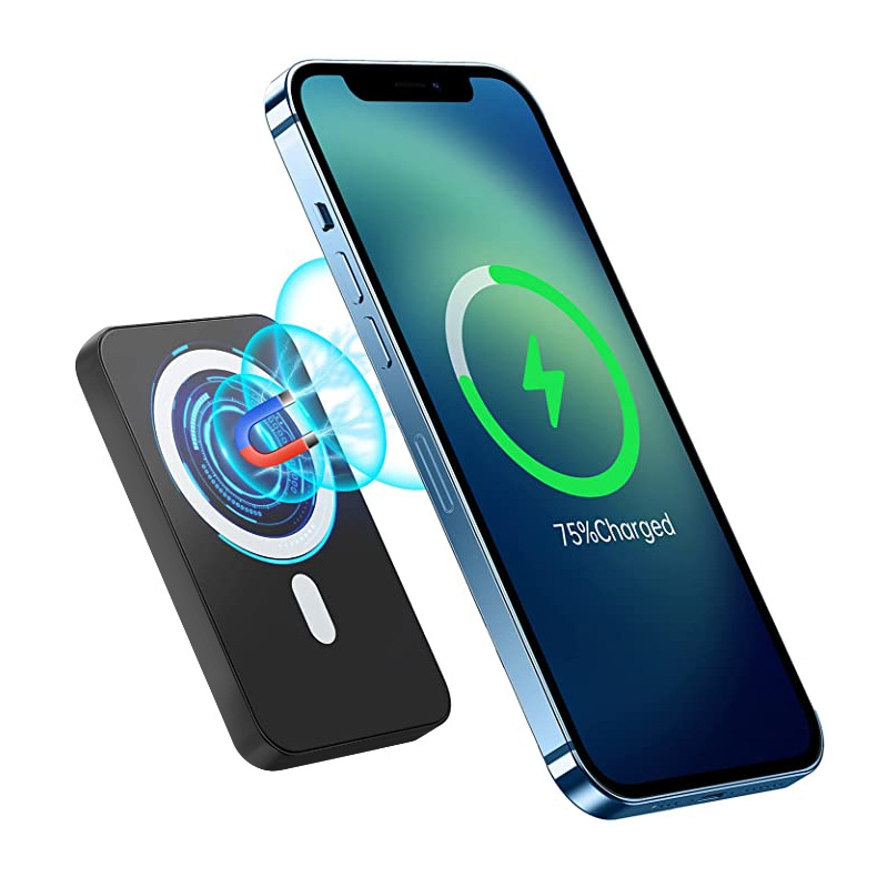 Factory 5000mAh Magnetic Power Bank Pd 20W Battery Pack Type C Ultra Slim Table Wireless Charger with Power Bank