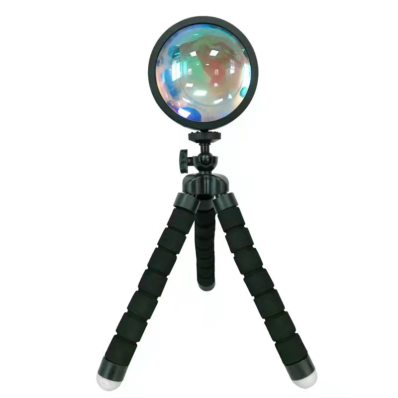 RGB 16 color led projector lamp rainbow night light 4 modes tripod sunset lamp