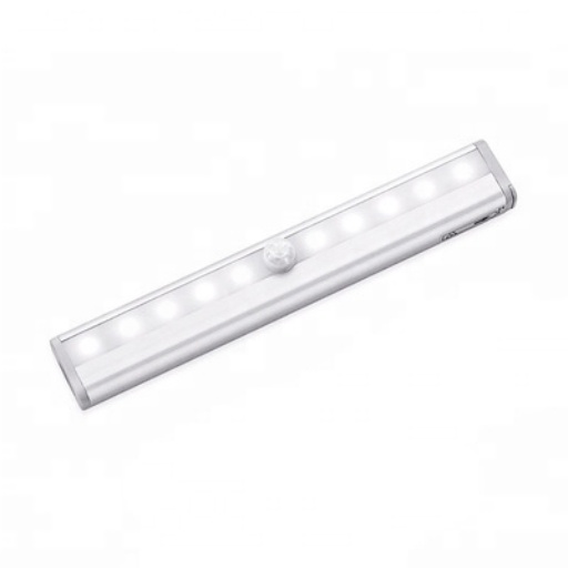 LED Rechargeable Motion Sensor Night Light with Stick-on Magnetic Strip for Closet Wardrobe Cabinet